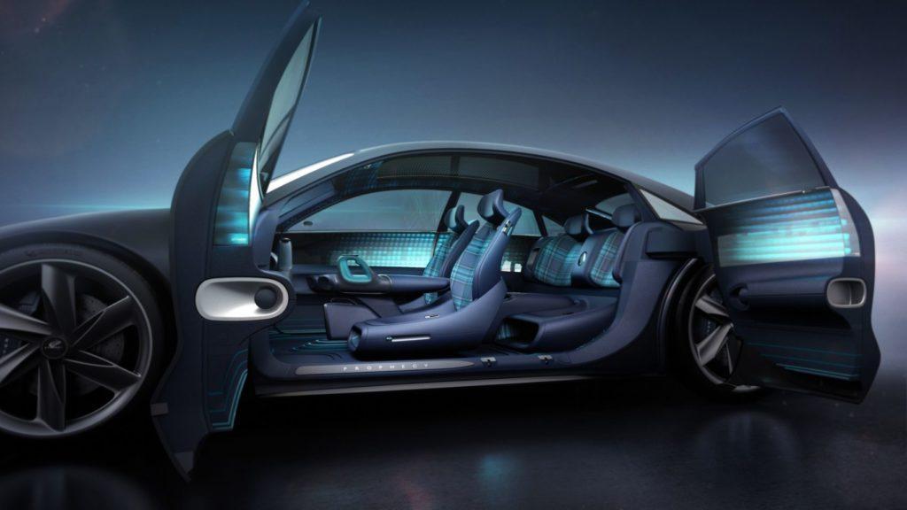 Hyundai Prophecy Concept EV interior layout.