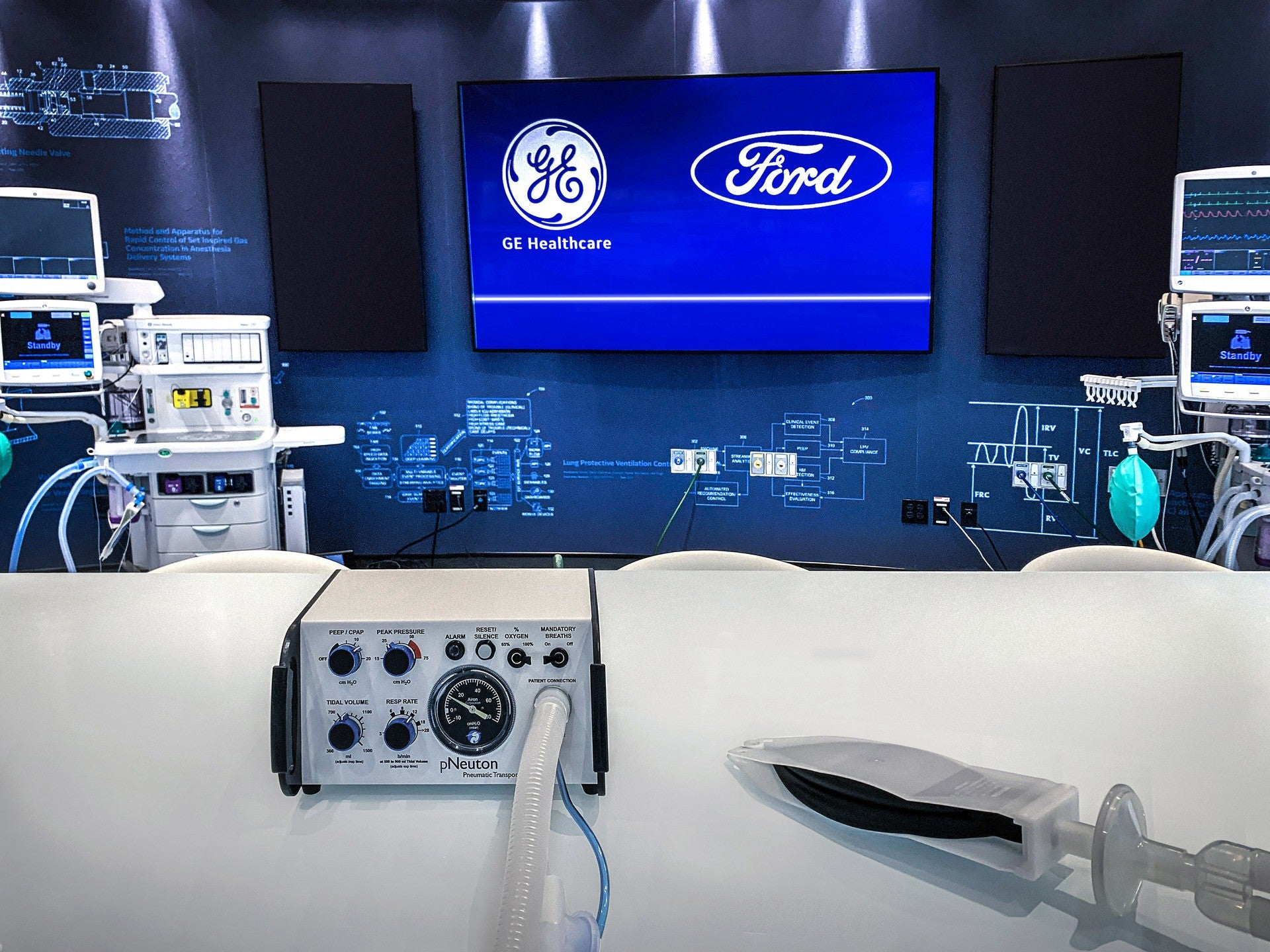 Ford, GE Healthcare to Produce 50,000 Ventilators in Michigan