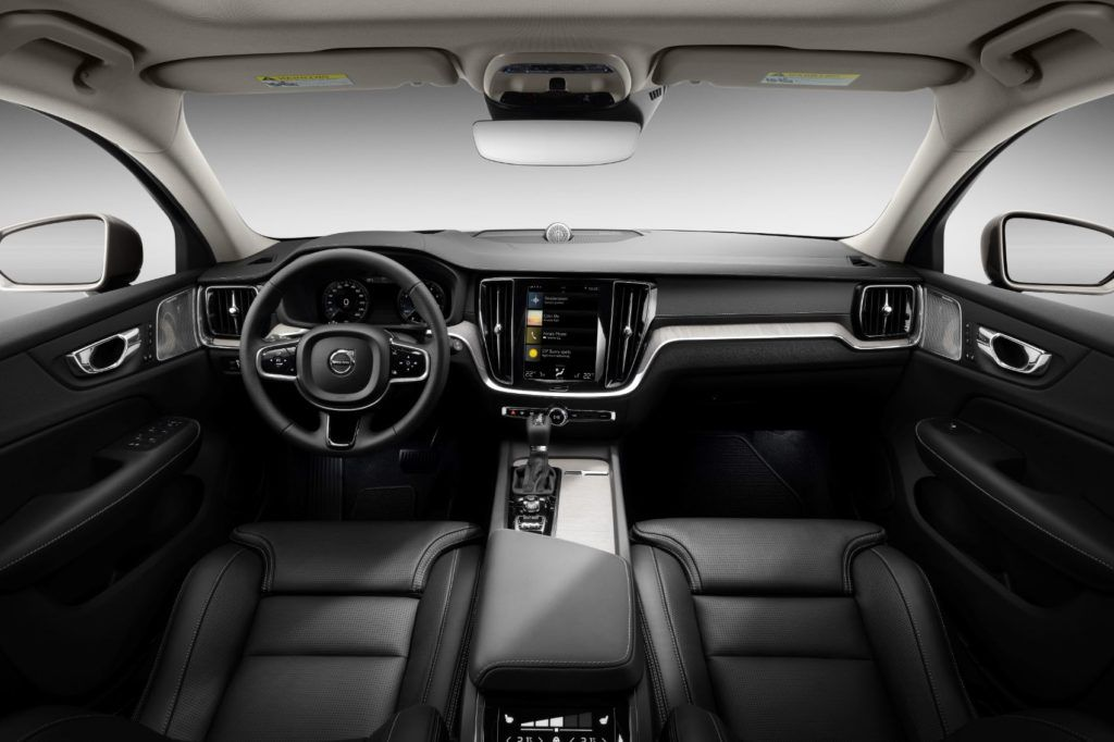 2020 Volvo V60 Cross Country interior layout.