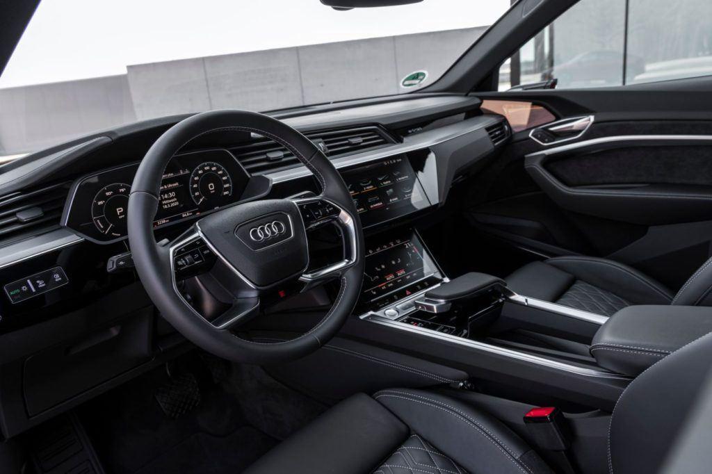 2020 Audi e-tron Sportback interior layout.