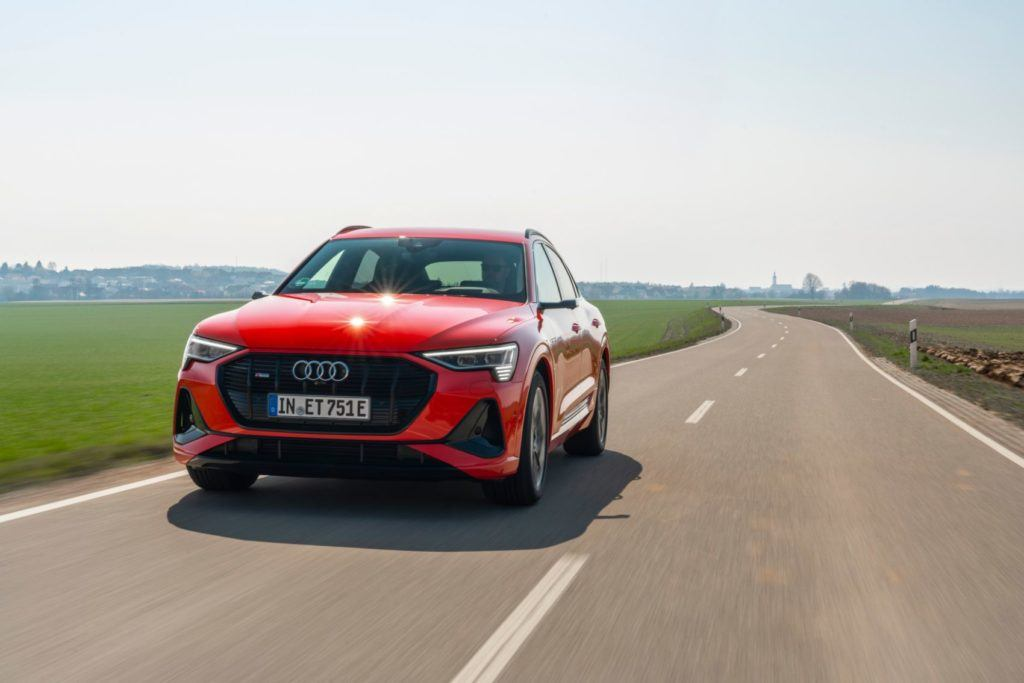 2020 Audi e-tron Sportback on the open road.