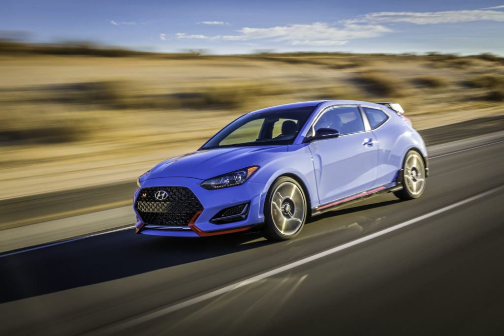 2020 Hyundai Veloster N on the open road.