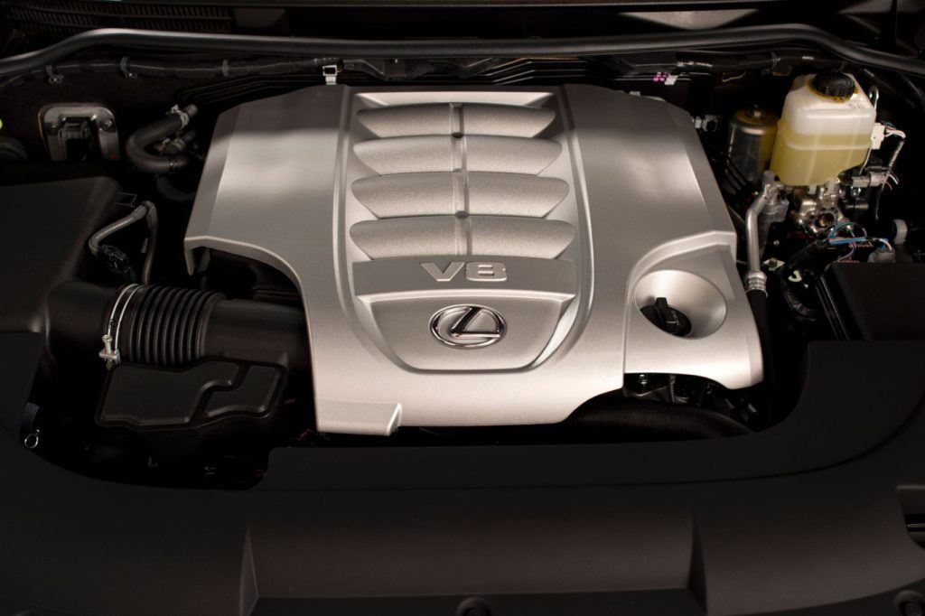 2020 Lexus LX 570 under the hood.