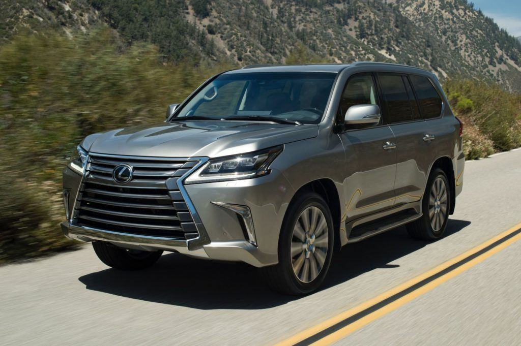 2020 Lexus LX 570 on the open road.