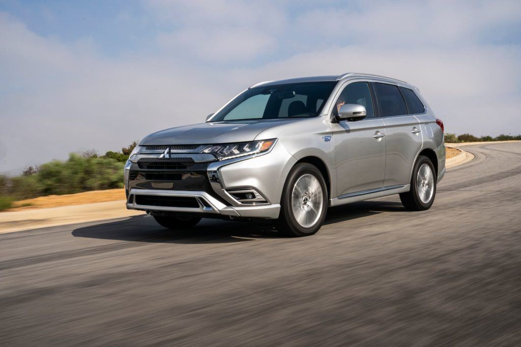 2020 Mitsubishi Outlander PHEV on the open road.