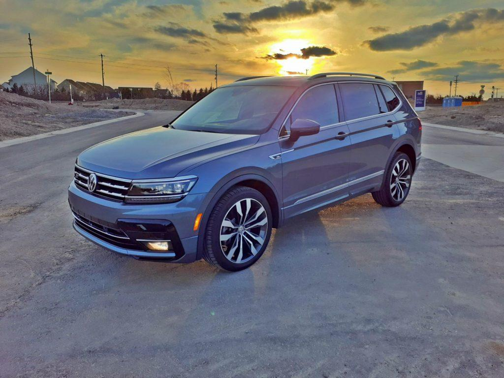 Our 2020 VW Tiguan press vehicle near some new development in Plymouth, Michigan.