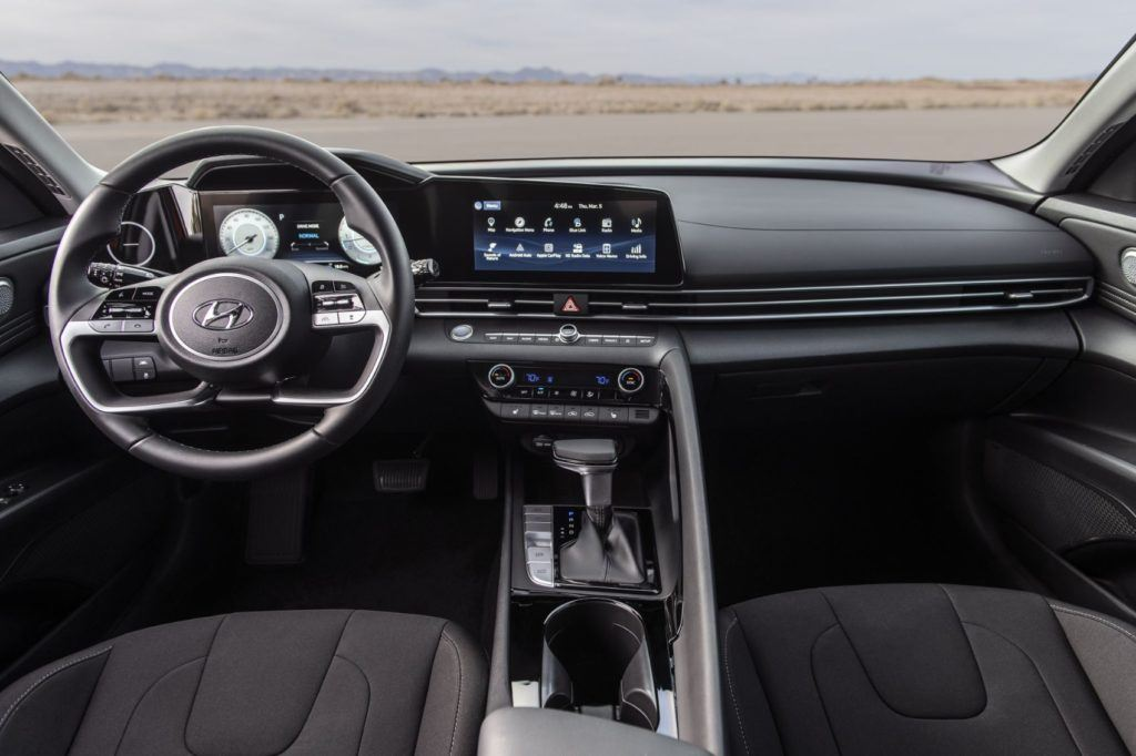 2021 Hyundai Elantra interior layout. Photo: Hyundai Motor America.