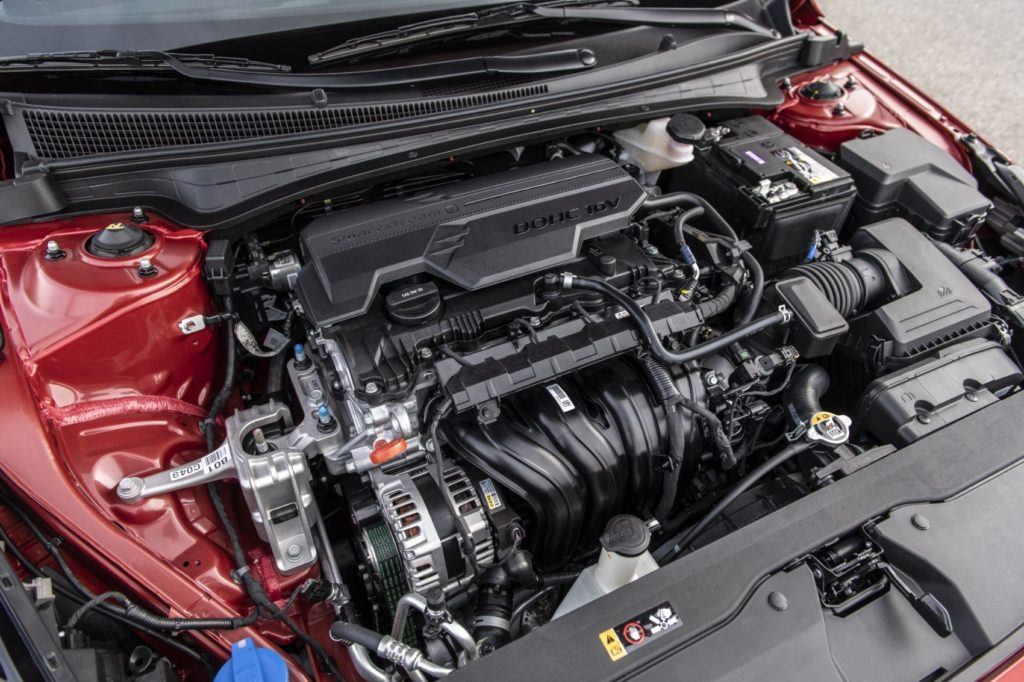 2021 Hyundai Elantra under the hood. Photo: Hyundai Motor America.