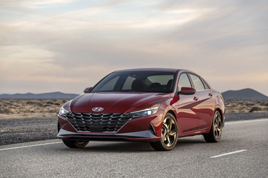 "Hyundai says the grille of the 2021 Elantra has a ""parametric-jewel-pattern."" Photo: Hyundai Motor America."