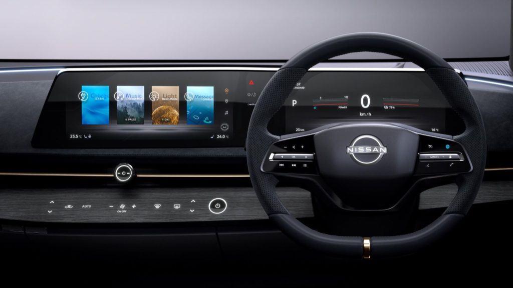 Nissan Ariya Concept interior layout.
