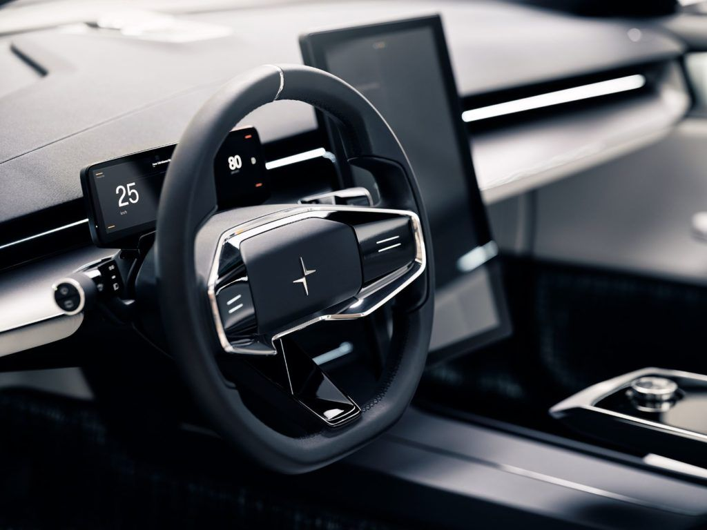 Polestar Precept steering wheel.