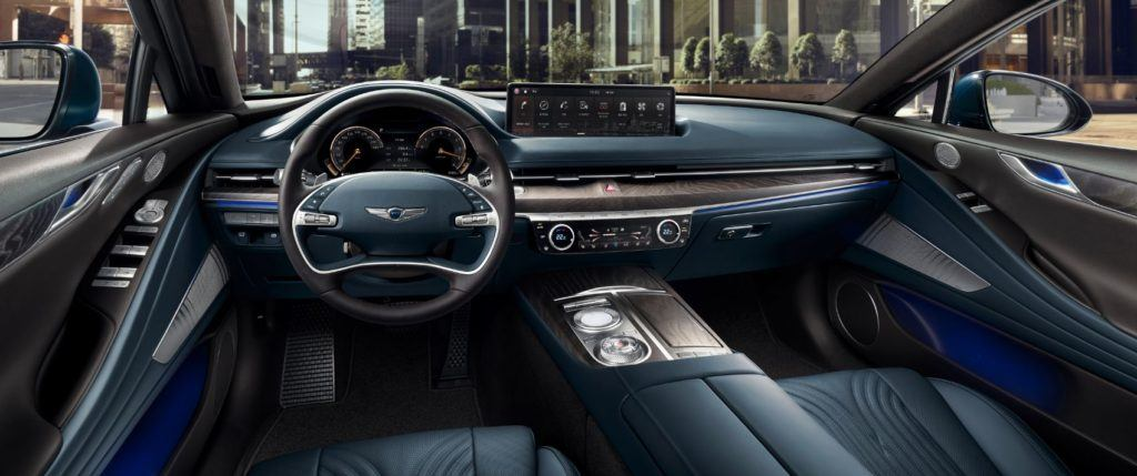 2021 Genesis G80 interior layout.