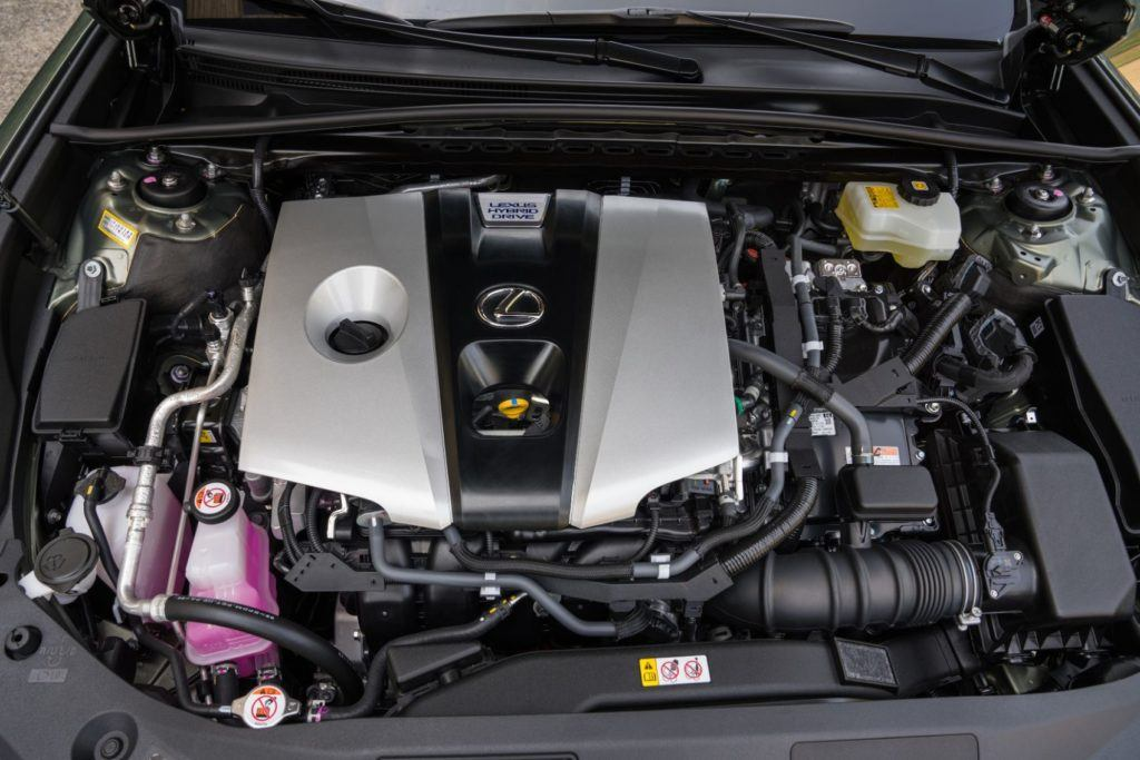 2020 Lexus ES 300h under the hood.