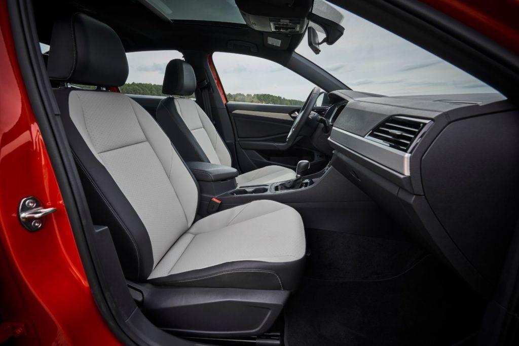 2020 VW Jetta R-Line interior layout.