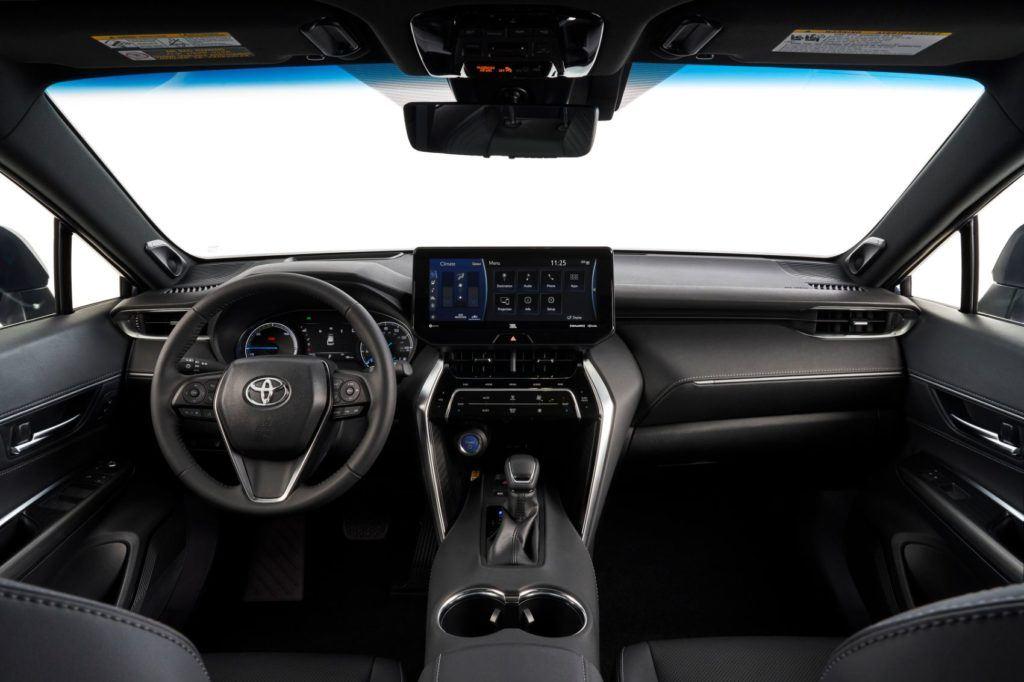 2021 Toyota Venza interior layout.