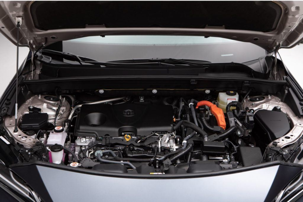 2021 Toyota Venza under the hood.