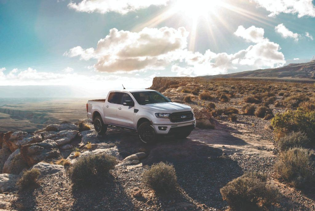 2020 Ford Ranger with the Black Appearance Package.