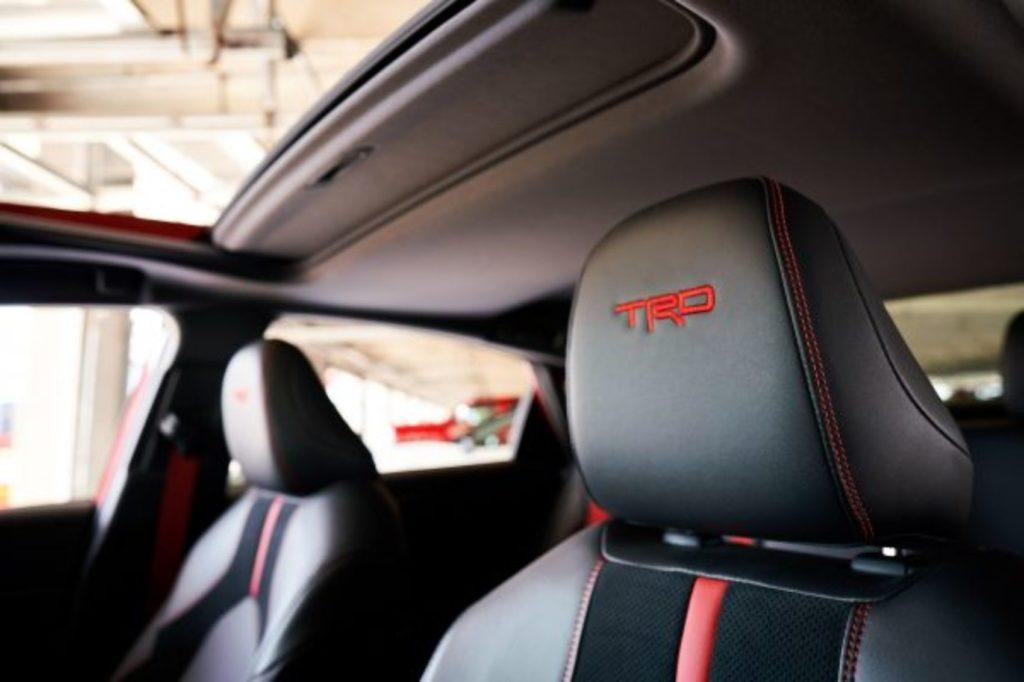 2020 Toyota Avalon TRD interior layout.