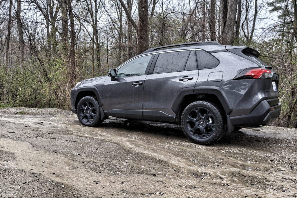 While the RAV4 TRD Off-Road can handle the dirt and mud, it's surprisingly smooth when you find concrete again.