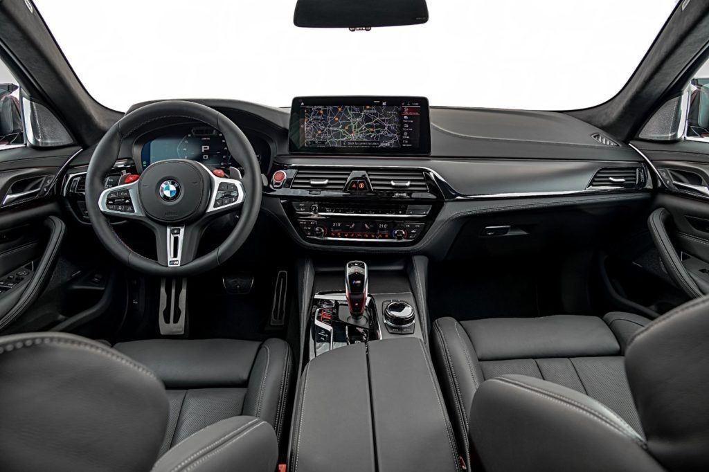 2021 BMW M5 Competition Sedan interior layout.
