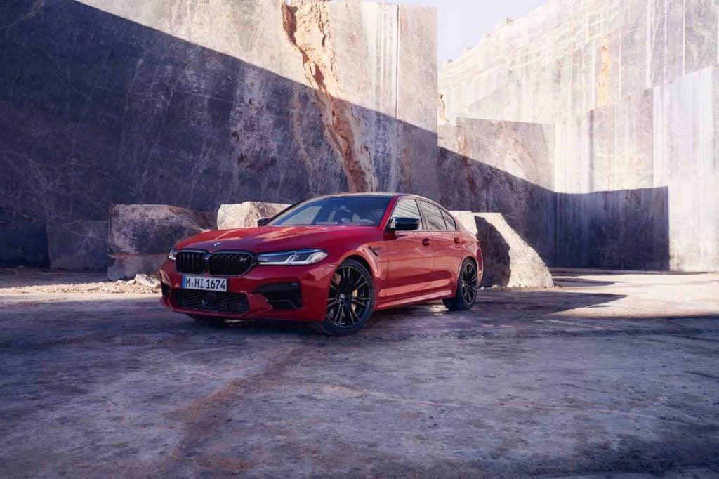 2021 BMW M5 Competition Sedan ( European model shown).