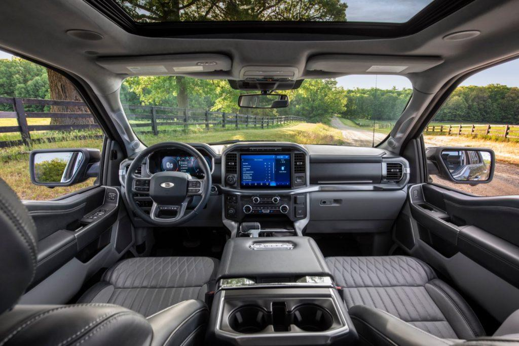 2021 Ford F-150 interior layout.