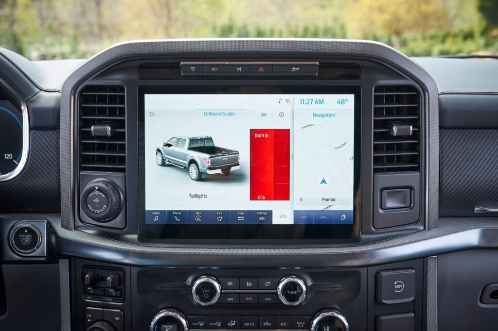 2021 Ford F 150 Onboard Scales 2