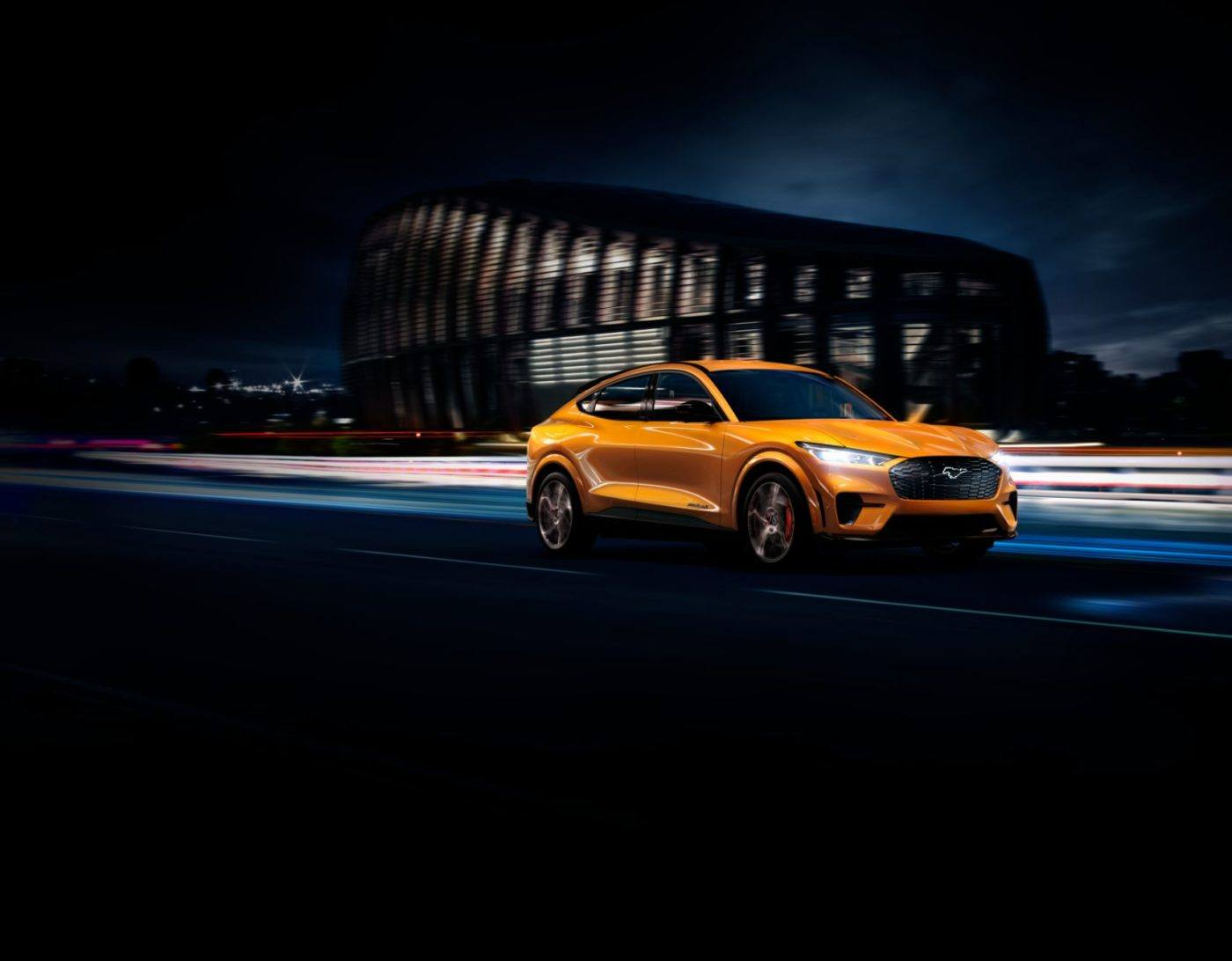 2021 Ford Mustang Mach-E Cyber Orange Front Profile