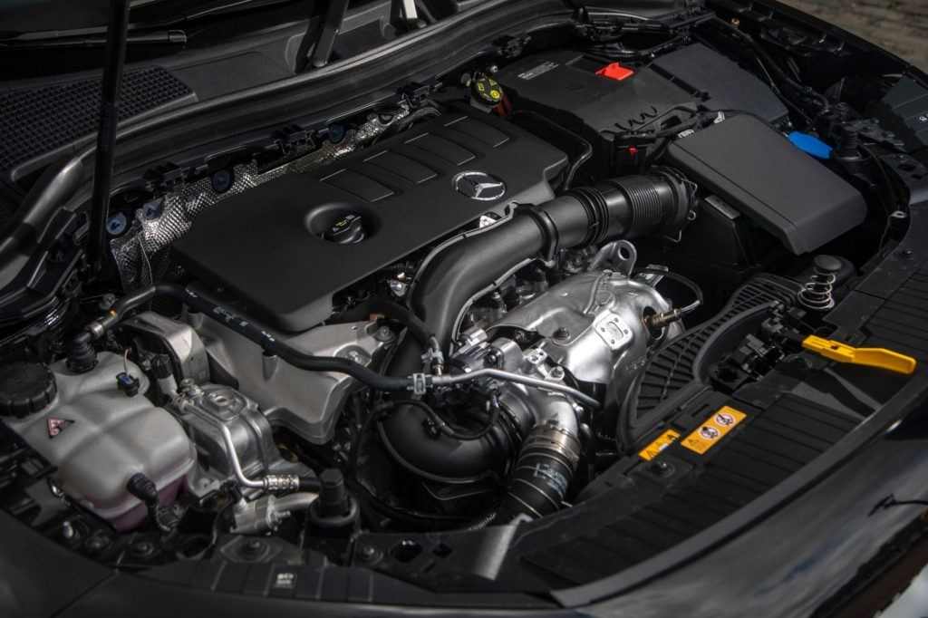 2021 Mercedes-Benz GLA under the hood.