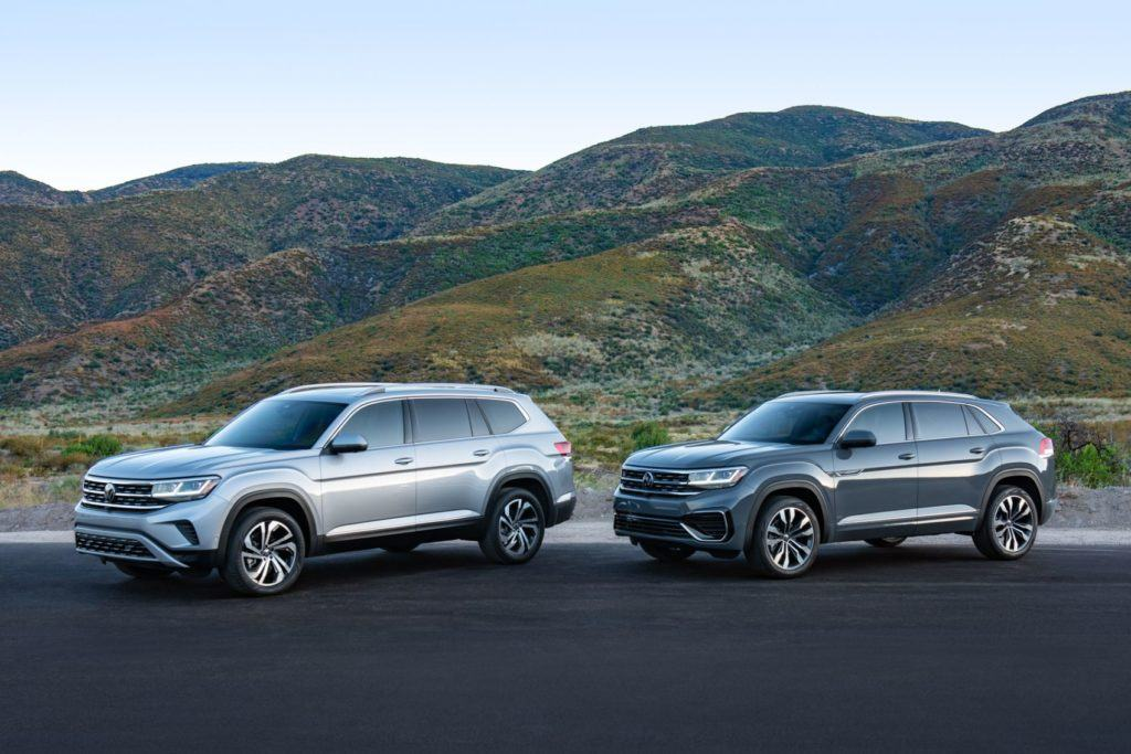 2021 VW Atlas and 2020 Atlas Cross Sport.