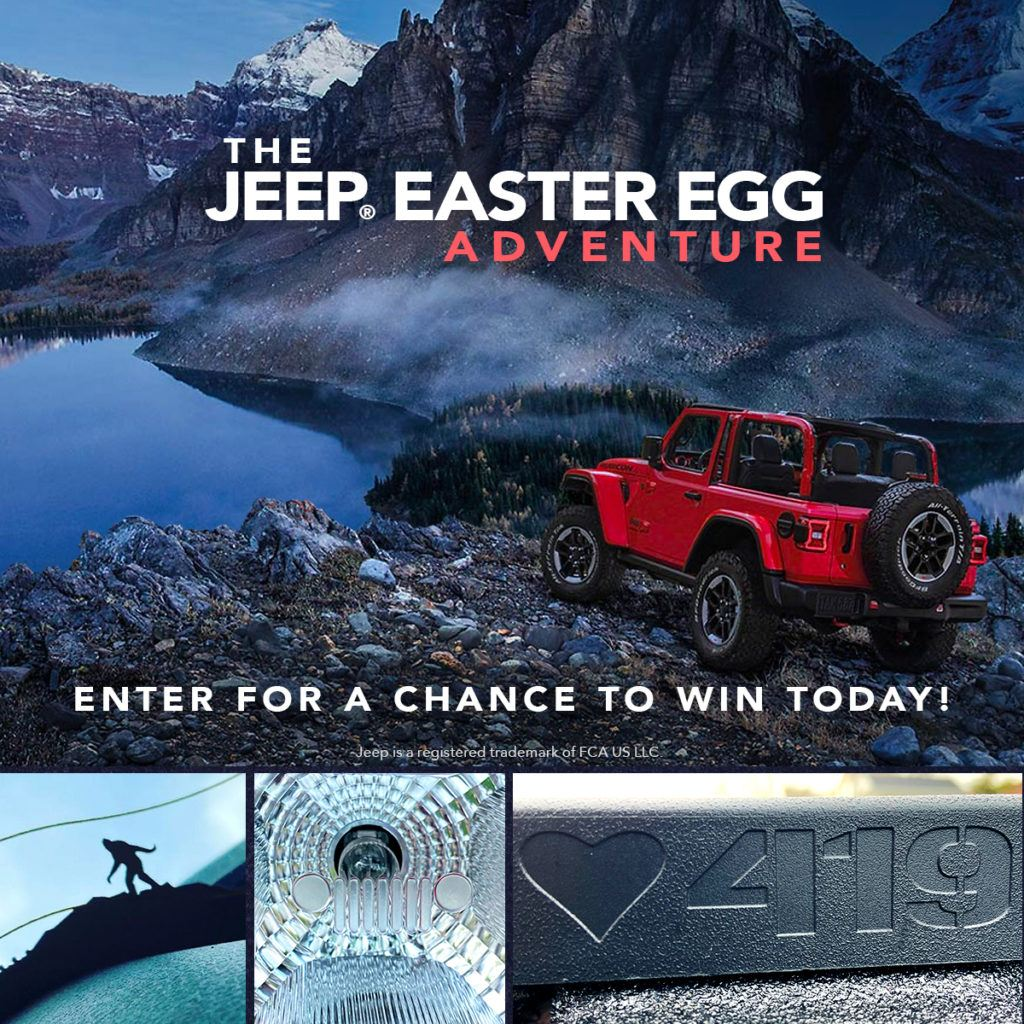 "Jeep ""Easter egg"" contest."