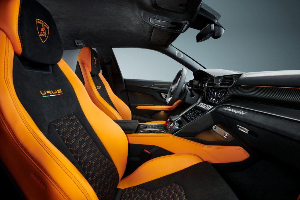 Lamborghini Urus Pearl Capsule interior layout.