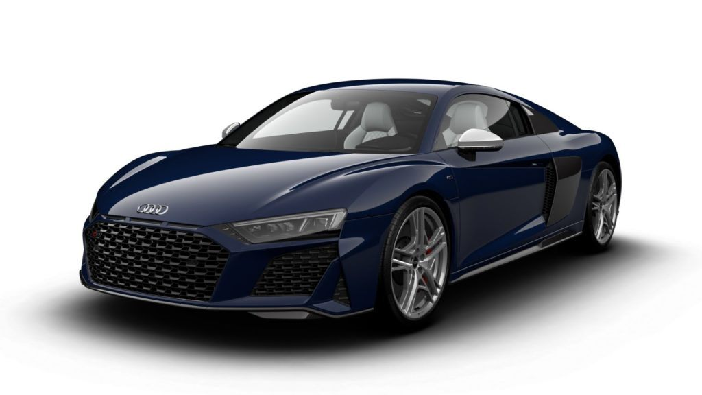2020 Audi R8 V10 quattro in Mugello Blue.