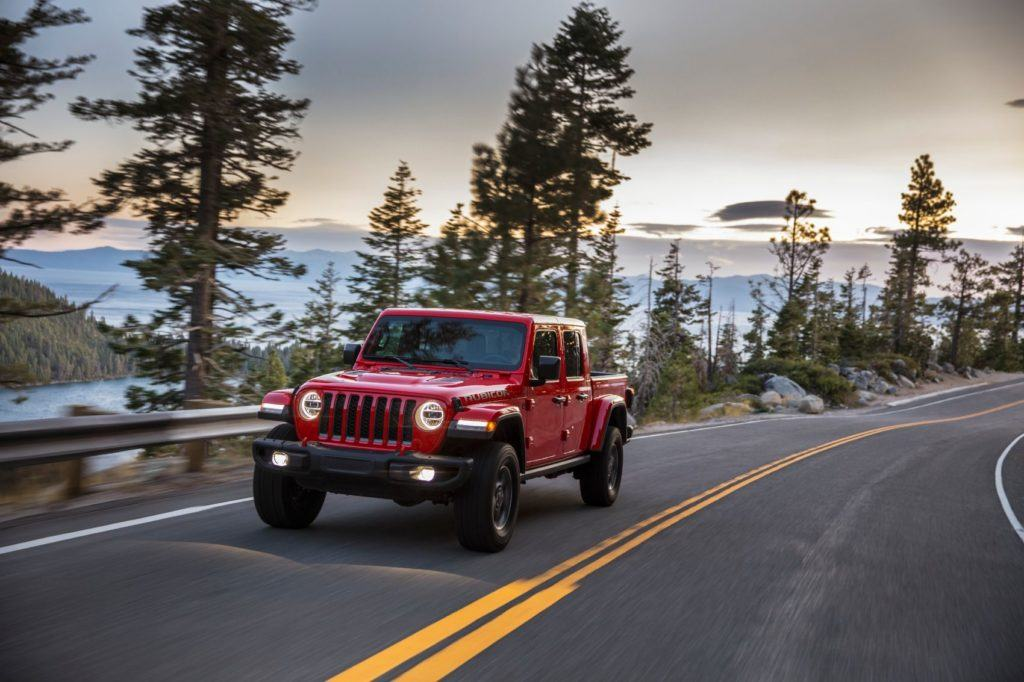 2021 Jeep Gladiator EcoDiesel on the open road.