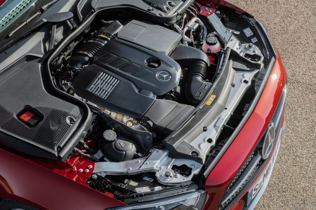 2021 Mercedes-Benz E 450 Cabriolet under the hood.