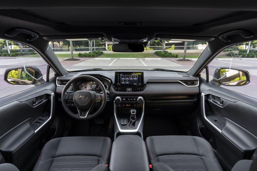 2021 Toyota RAV4 Prime SE interior layout.