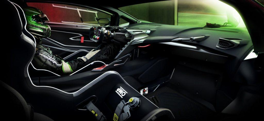 Lamborghini Essenza SCV12 interior layout.