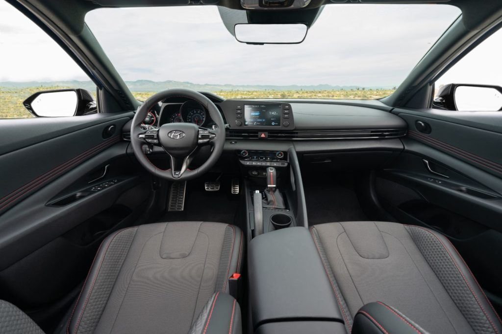 2021 Hyundai Elantra N Line interior layout.