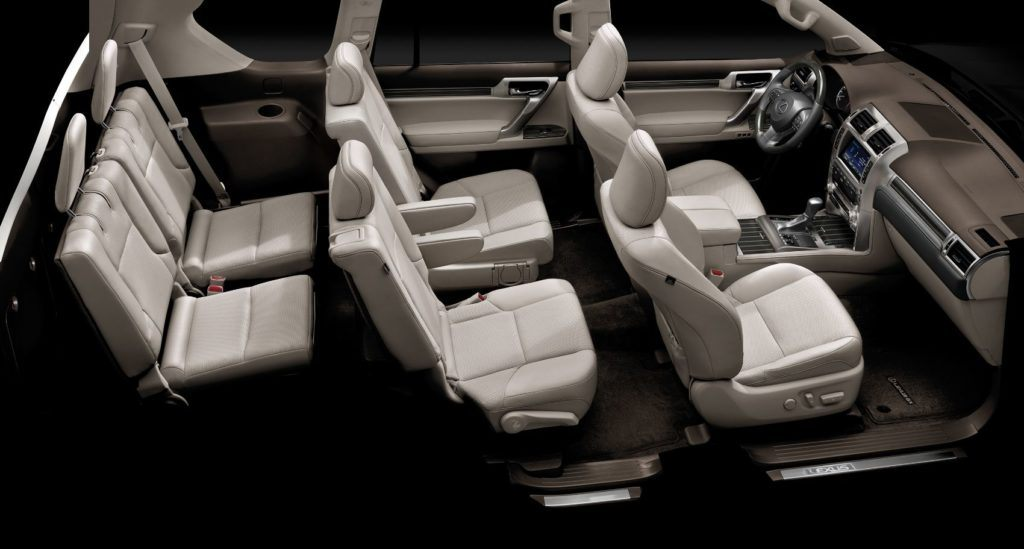 2021 Lexus GX 460 seating configuration for six.