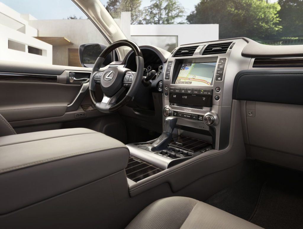 2021 Lexus GX interior layout.
