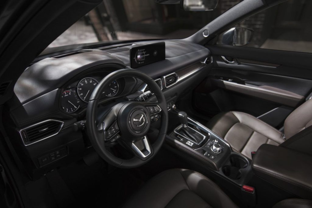 2021 Mazda CX-5 interior layout.