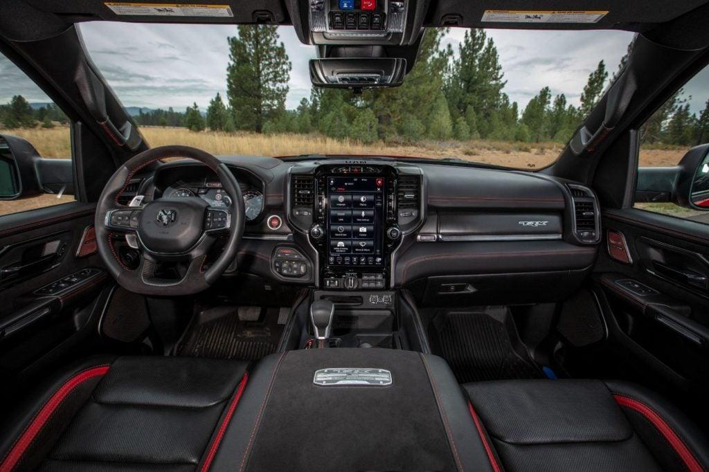 2021 Ram 1500 TRX interior layout.
