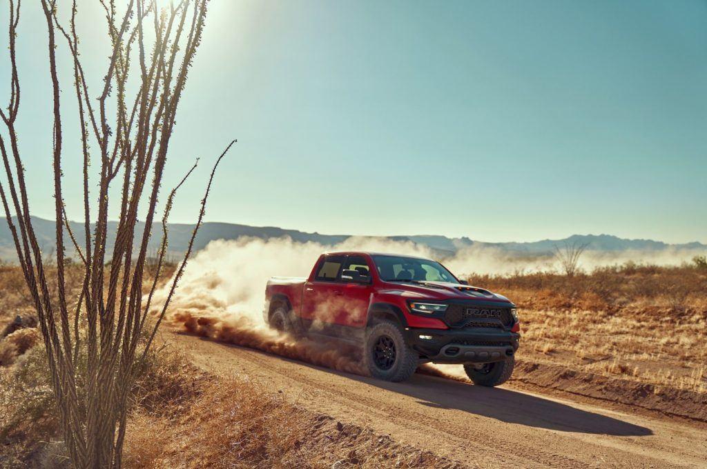 2021 Ram 1500 TRX in the desert.