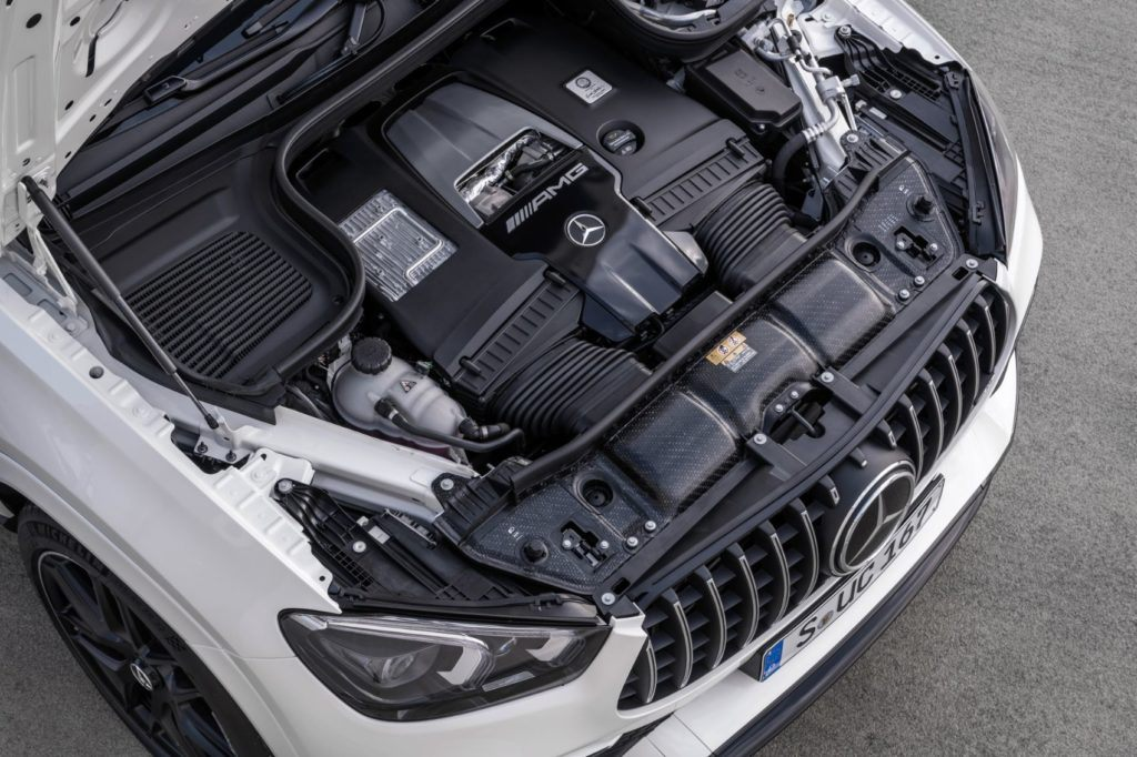 2021 Mercedes-AMG GLE 63 S Coupe under the hood.