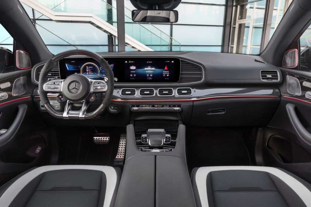 2021 Mercedes-AMG GLE 63 S Coupe interior layout.
