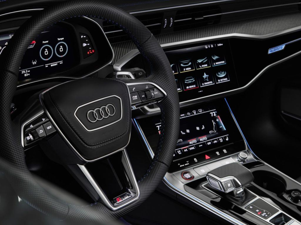 2021 Audi RS 6 Avant RS Tribute Edition interior layout.