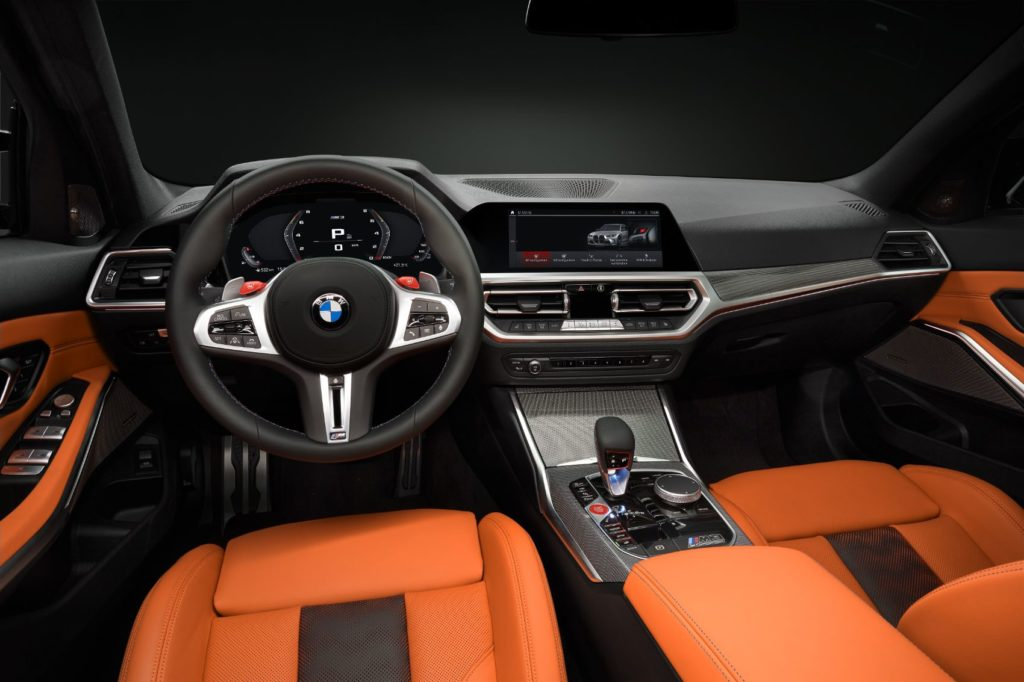 2021 BMW M3 Competition and M4 Competition interior layout.