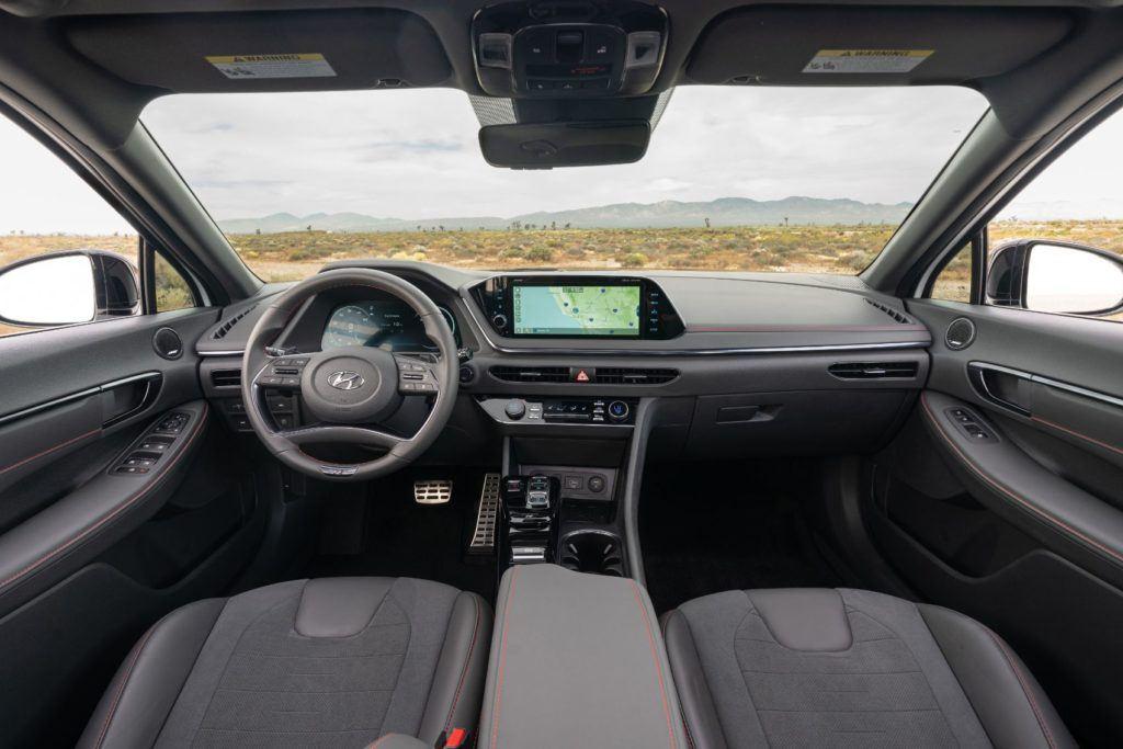 2021 Hyundai Sonata N Line interior layout.