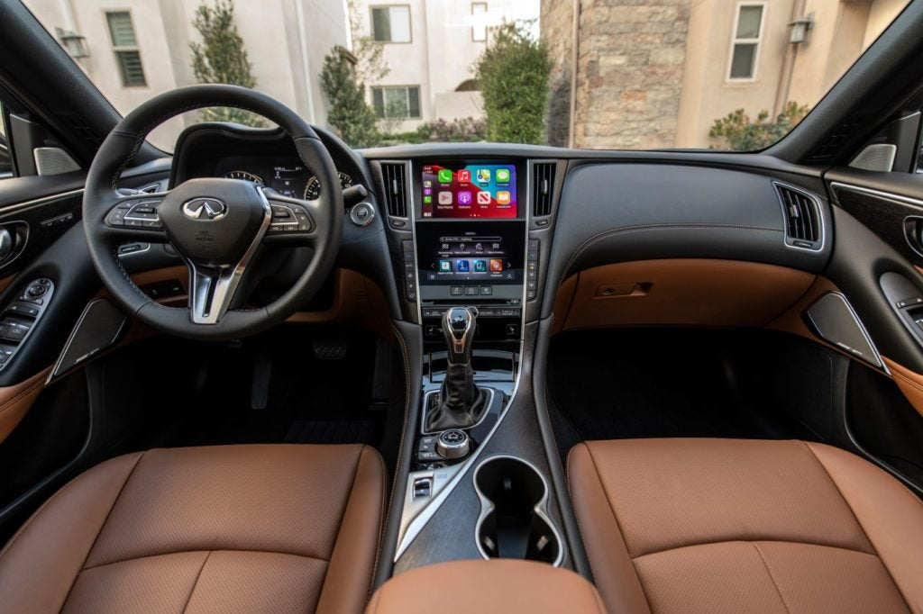 2021 Infiniti Q50 interior layout.