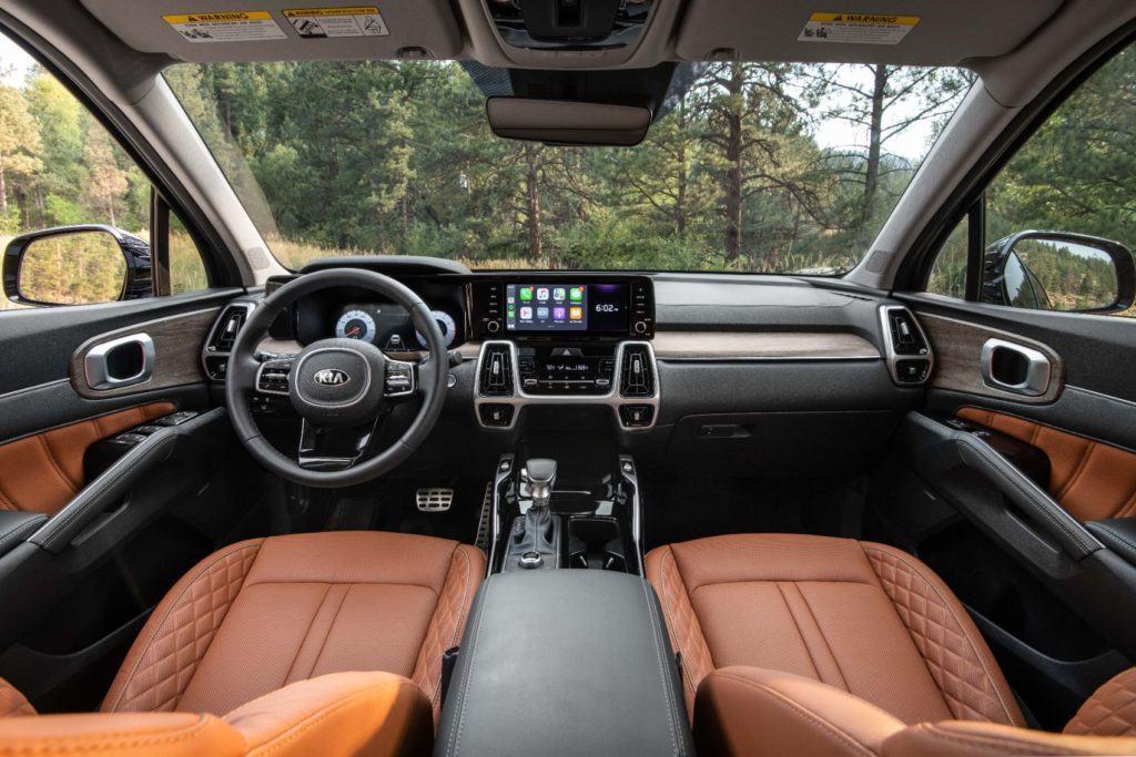 2021 Kia Sorento X-Line interior layout.